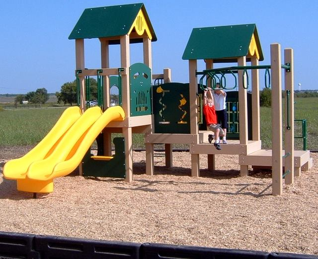 Wood Fiber Surfacing Commercial Playground