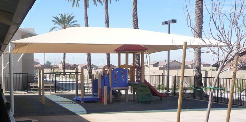 Playground Shade - Hip Roof